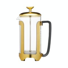 Френч-прес 10 лет гарантии Le'Xpress 1 LITRE BRASS FINISH STAINLESS STEEL, EIGHT CUP CAFETIÈRE, GIFT TAGGED, 1000 мл. (KCLXCAFE8CPBRS)