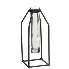Ваза стеклянная MICA Пробирка DHAKA SINGLE FLOWER VASE- BLACK 20.0 x 8.0 см. 1039816-EDL