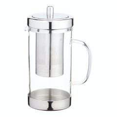 Чайник для заварки Le'Xpress STAINLESS STEEL GLASS INFUSER TEAPOT, в коробке, 1000 мл. (KCLXTEAJUG)
