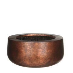 Кашпо MICA COPA BOWL ROUND copper 38.0 x 17.0 см. 119791-EDL