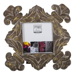 Фоторамка PTMD RAFT photoframe carved .. 665038-PT, Коричневий