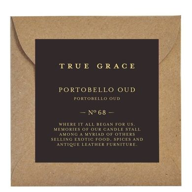 Ароматическое саше True Grace SCENTED LEAF № 67 Portobello Oud MANOR арт: SLE-M-67