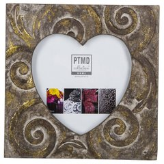 Фоторамка PTMD RAFT photoframe heart .. 665035-PT, Коричневий
