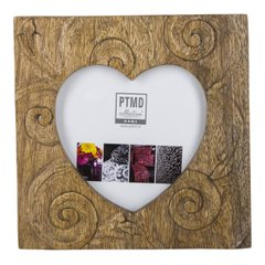 Фоторамка PTMD RAFT photoframe heart wood 665034-PT, Коричневий