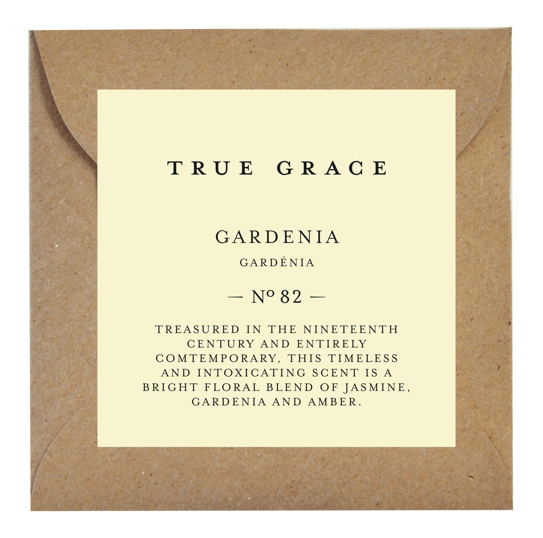 Ароматическое саше True Grace SCENTED LEAF № 82 Gardenia MANOR арт: SLE-M-82