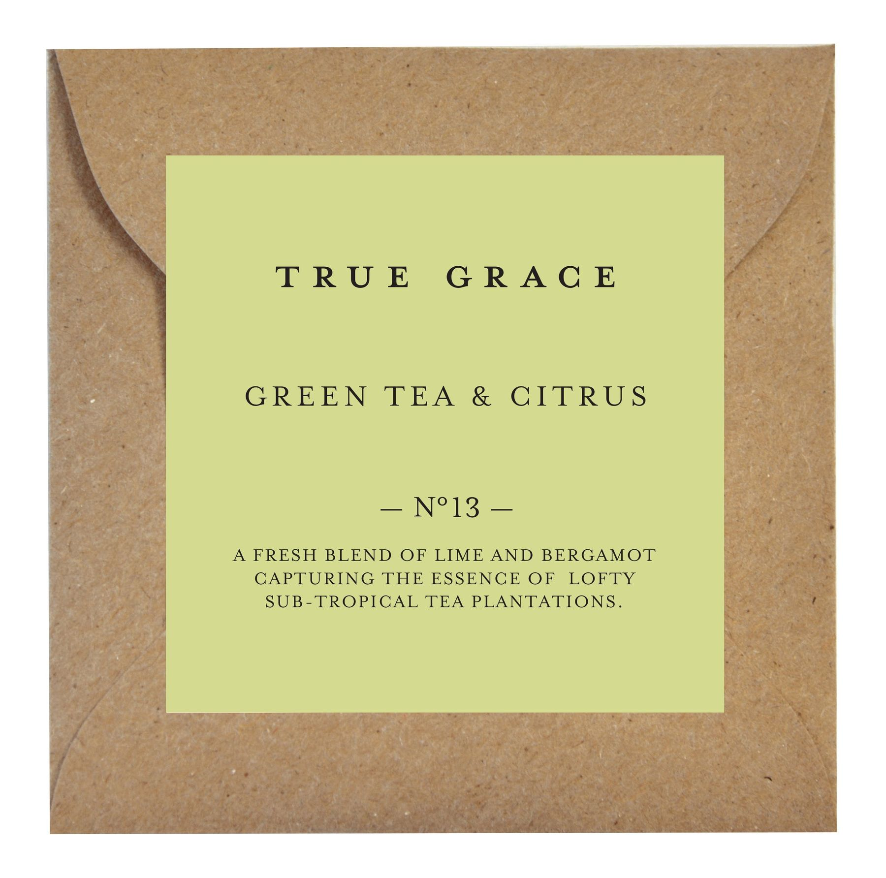 Ароматическое саше True Grace SCENTED LEAF № 13 Green Tea & Citrus VILLAGE арт: SLE-V-13