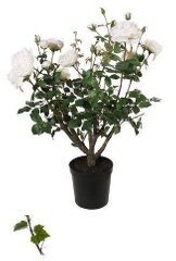 Исскуственные растения ROSE BUSH POTTED white 41334-SH H90CM