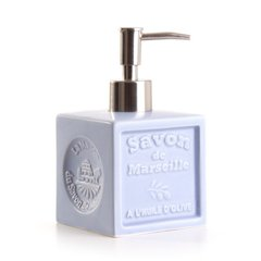 Дозатор (для жидкого мыла) La Maison du Savon Marseille CERAMIC LIQUID SOAP DISPENSER - CUBE LAVENDERR (M41013)