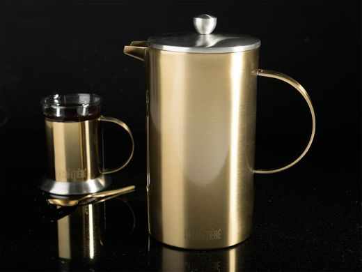 Кофейник (термо) La Cafetiere EDITED DOUBLE WALLED 8 CUP CAFETIÈRE BRUSHED GOLD в коробке, 1000 мл. (5201340-CRT)