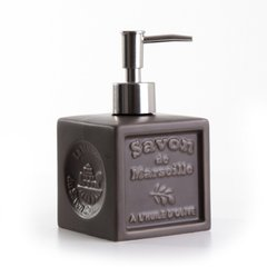 Дозатор (для жидкого мыла) La Maison du Savon Marseille CERAMIC LIQUID SOAP DISPENSER - CUBE TAUPE (M41030)