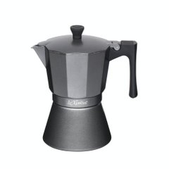 Кофеварка гейзерная Le'Xpress ITALIAN SIX CUP INDUCTION SAFE EXPRESSO COFFEE MAKER, 6 CUP в коробке, 290 мл. (LX6CUPGRY)