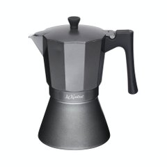 Кофеварка гейзерная Le'Xpress ITALIAN NINE CUP INDUCTION SAFE EXPRESSO COFFEE MAKER, 9 CUP в коробке, 470 мл. (LX9CUPGRY)