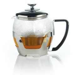 Чайник для заварки Le'Xpress STAINLESS STEEL AND GLASS INFUSER TEAPOT в коробке, 1000 мл. (KCLXTEAPOTINF)